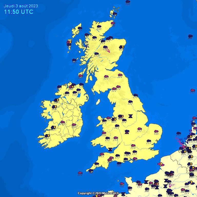 Meteociel Observations M T O En Temps R El En France Royaume Uni Irlande